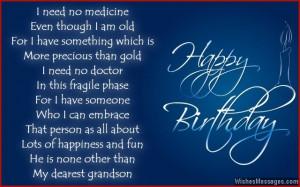 Happy Birthday Wishes Grandson