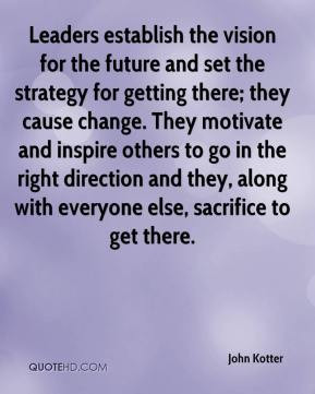 Leaders establish the vision for the future and set the strategy for ...