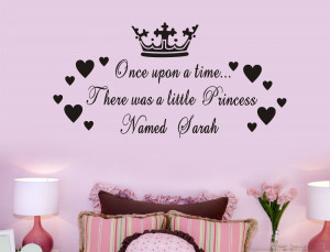 ... princess bedroom decoration for baby girls room Wall stickers quotes