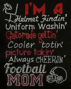 Beautiful Football Mom Rhinestone Tee UNIFoRM by WickedStitching, $25 ...