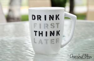 Stenciled Coffee Cup Quote Tutorial - cherishedbliss.com #plaid # ...