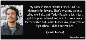 More James Franco Quotes