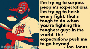 Jon Jones on surpassing expectations