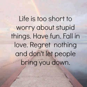 Don't let others bring you down.