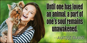 Human loves puppy - quotes about animals   JUST HAPPY QUOTES