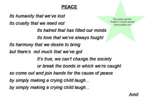 peace poems