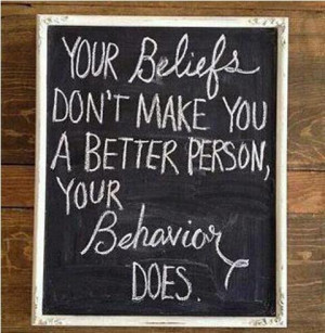 We judge others by their behavior. We judge ourselves by our ...
