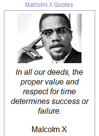 bloggergadgets.netQuotes made by Malcolm X who