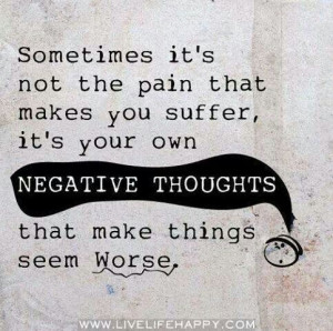 Get rid of negative thoughts