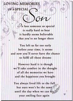 Quotes for Son | Details about Grave Card / Christmas - Special Dad ...