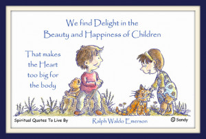 Ralph Waldo Emerson quote on watercolour by Sandra Reeves