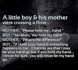 little boy & his mommy
