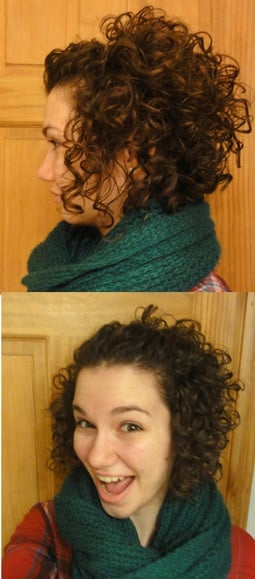 Cute Hairdo for Short, Curly Hair: pin back the top part of your hair ...