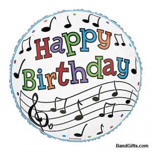 Birthday Music Notes Balloon