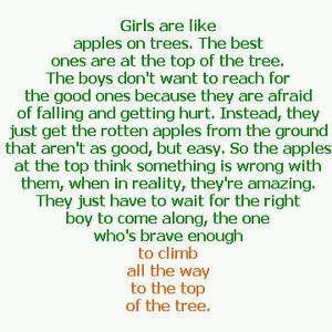 Girls Are Like Apple Trees….