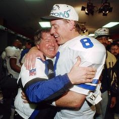 Head Coach Jimmy Johnson and quarterback Troy Aikman. Jimmi Johnson ...
