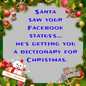 Best Funny Christmas Quotes For Facebook Status 2014