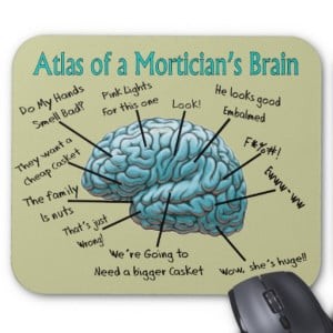 Funny Mortician Gifts Mousepads