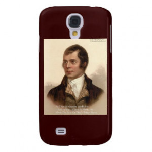 Robert Burns Famous Quote Galaxy S4 Cover
