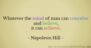 Image: Motivation quotes / Napoleon Hill