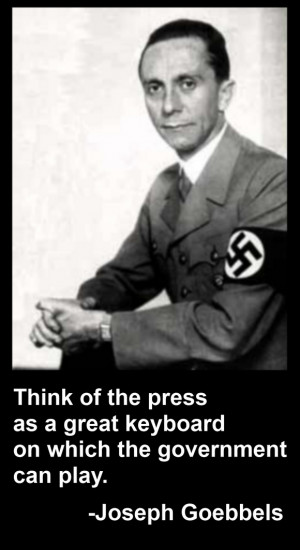 """dr joseph goebbels and the nazi propaganda Among the junk was seven thousand pages of loose paper found in the courtyard of the nazi propaganda ministry, which was under soviet occupation the paper was joseph goebbels, at right in suit, was the nazi party's master propagandist and, in the words of one historian, """"the first 'spin doctor."""