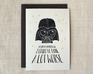Star Wars Father's Day Card