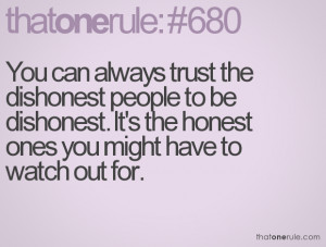 Dishonest People Quotes
