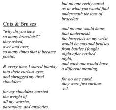 ... gives me bruises all the time sad self harm quotes self harm bruises