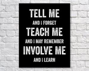 Benjamin Franklin Quote Education School Inspirational Art Print ...