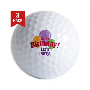 Age Gifts > Age Golf Balls > Happy Birthday Balloons Golf Balls