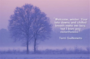 Welcome, Winter. Your Late Dawns And Chilled Breath Make Me Lazy, But ...