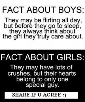 Very funny Boys v Girls Facts for my Facebook wall photos