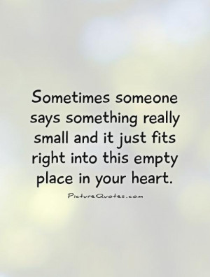Empty Heart Quotes