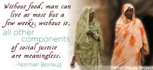 Human Rights - Quotes on Hunger - Norman Borlaug - human-rights Photo