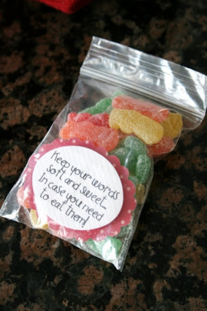 speak kind words to others - Sour Patch Kids candy