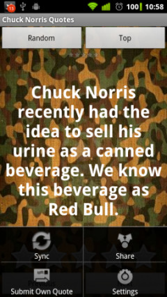 Free Android Chuck Norris Quotes App Download in Entertainment Tag