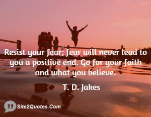 Positive Quotes - T. D. Jakes