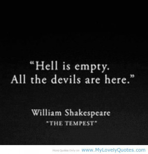 ... Quotes, Devil, The Tempest, Love Quotes, Shakespeare Quotes