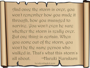 Haruki Murakami Quote on Surviving a Personal Storm