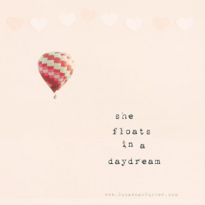 She floating along a dream....