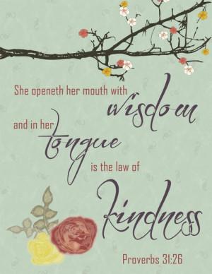 kindness bible verses