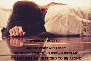 Alone Girl Quotes Beautiful Lying floor hairs crying sad