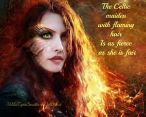 The Celtic Maiden With Flaming Hair