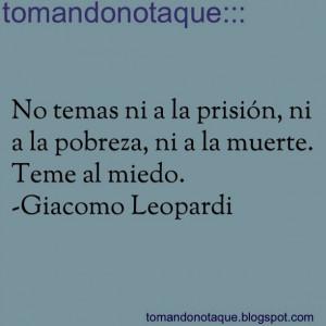 frases #citas #quotes de -Giacomo Leopardi
