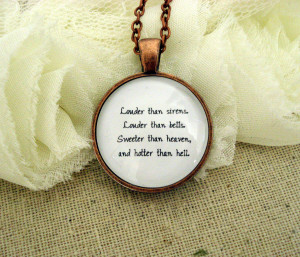 Florence and the machine drumming inspired lyrical quote necklace ...