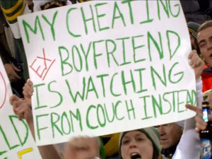 Hell hath no fury like a woman scorned !!! Packers Fan Taunts Cheating ...