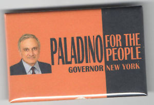 Carl PALADINO New York Governor pin For the People