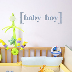 Add the Baby Boy Wall Quote Stencil to your nursery wall! http://www ...