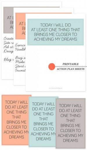 Printable Action Plan Sheets – Let's Do This Thang