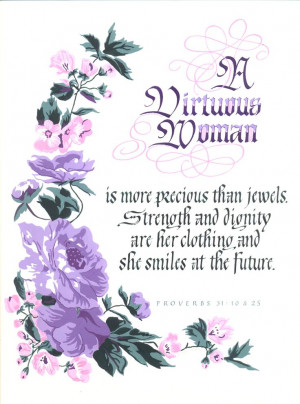 Virtuous woman quote